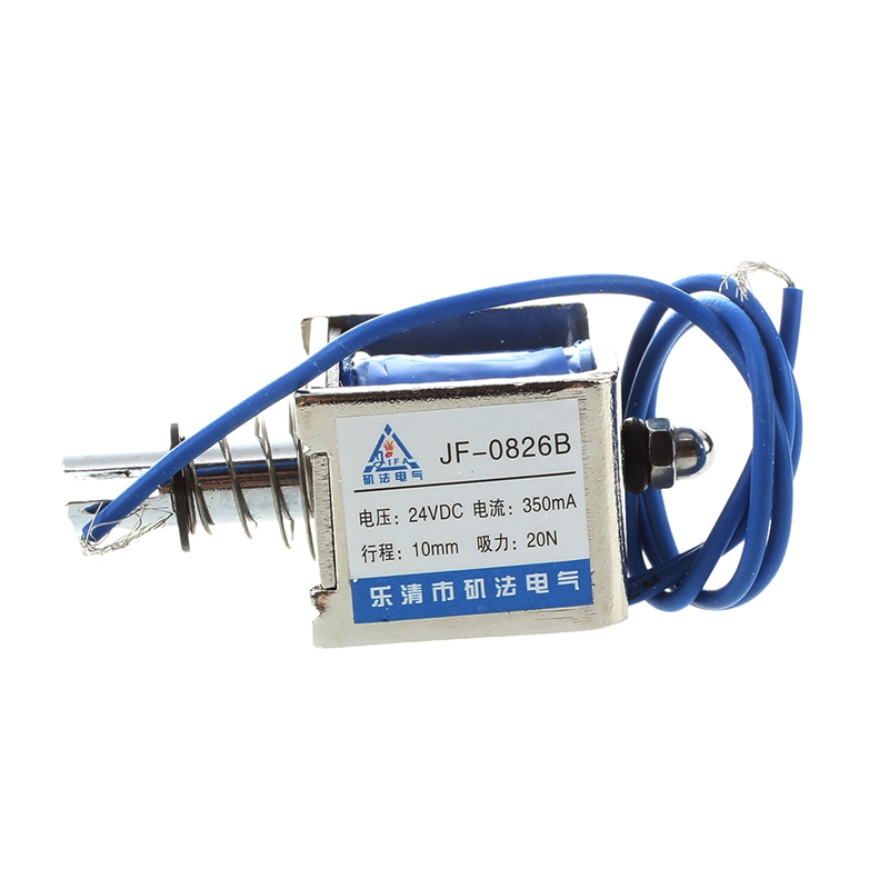 DC 24V 350mA Push-Pull-Typ oeffnen Rahmen Magnetspule Elektromagnet 10m A GZ 20X