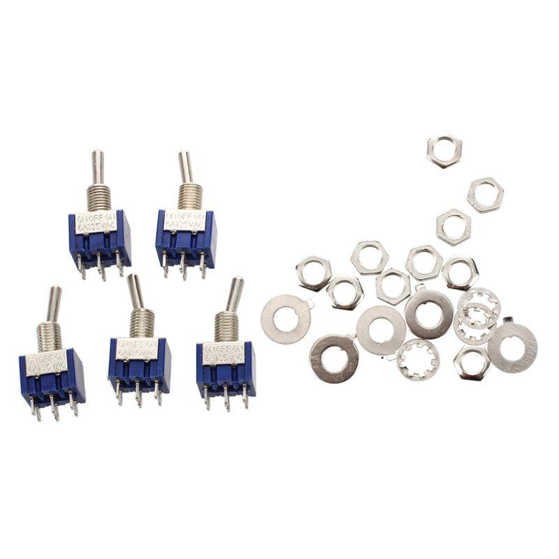 5pcs 3 Positions 2p2t Dpdt On-off-on Miniature Mini Interrupteur A Bascule R3c9 Ohxqjw7c-07225351-684245114