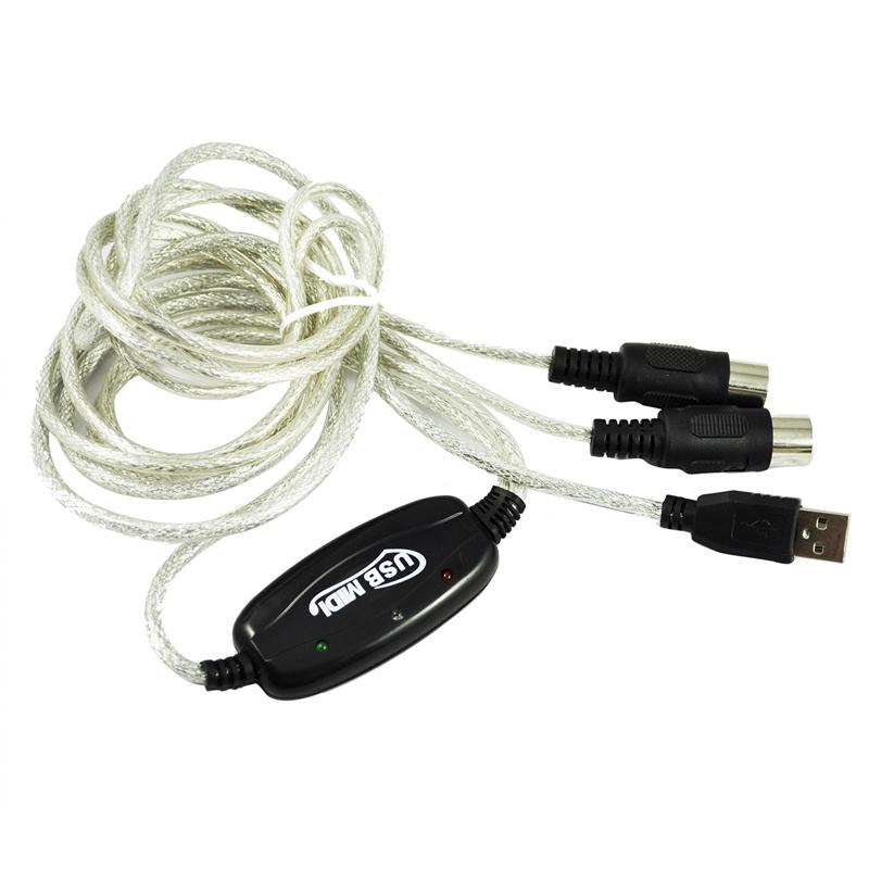 8X(USB MIDI Kabel Konverter PC zu Musik Tastatur Windows Win Vista ...