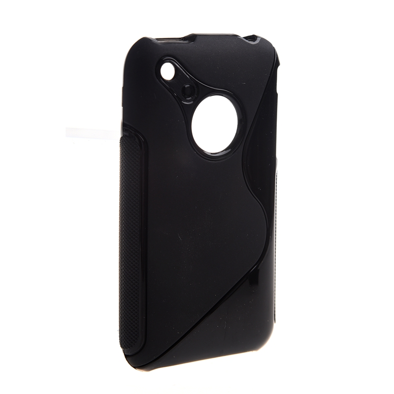 Black RUBBER TPU GEL HARD Case SKIN Cover FOR Apple iPhone 3G 3GS 8GB 16GB A9J6