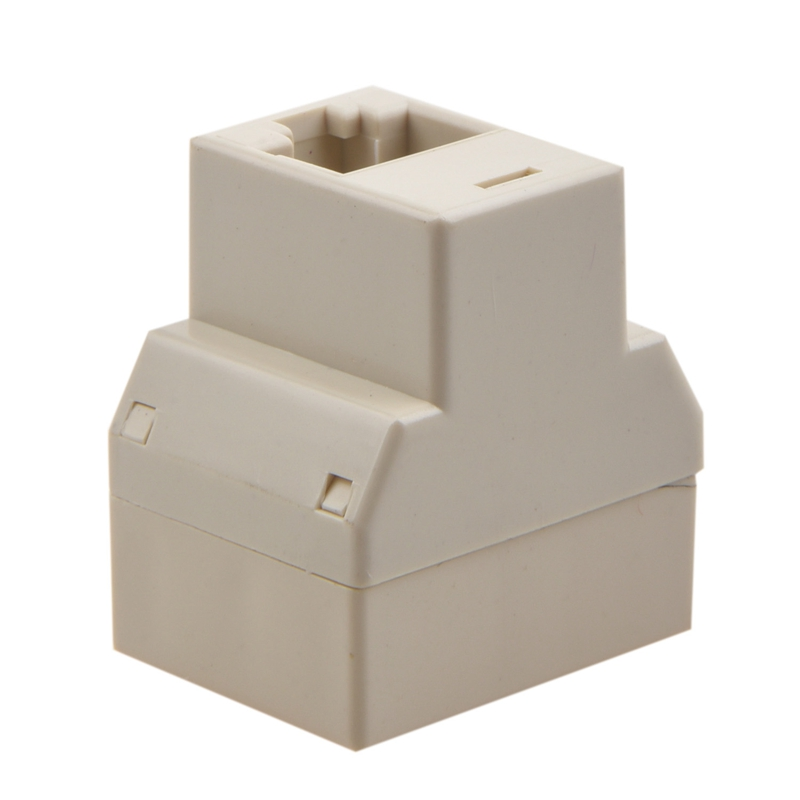 RJ45-CAT-5-6-LAN-Ethernet-Splitter-Connector-Adapter-PC-A1H2 thumbnail 2