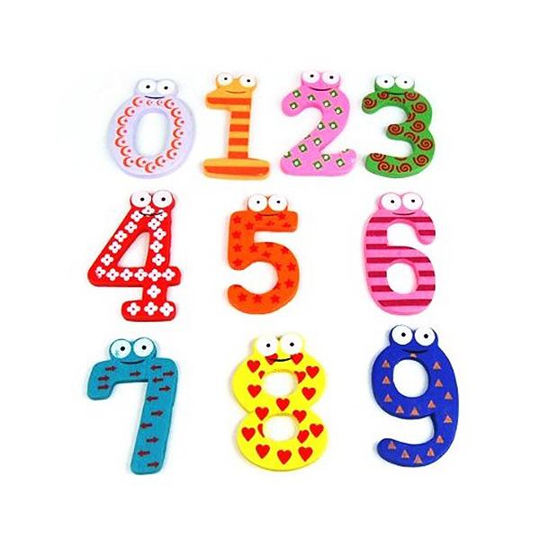 Sonstige Neuartige Interessante Bunte Magnetische Nummern Holz mit Magnet Spielzeug  N4B7 Holzspielzeug