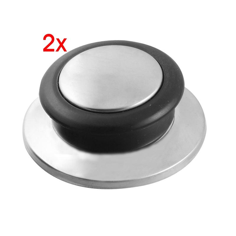 2x 2 stk schwarz silbern deckelknopf fuer topf pfanne aus gehaertetem glas h3k1 ebay. Black Bedroom Furniture Sets. Home Design Ideas