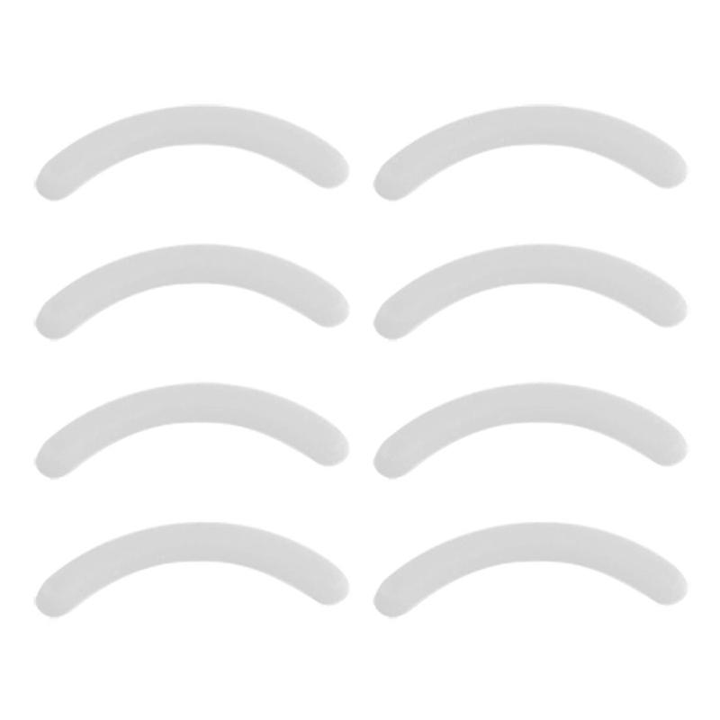 6X(8 Pcs Replacement Eyelash Curler Rubber Pad Cushion White K4C9 K4C9