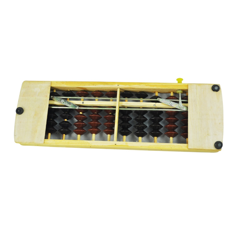 Brown-Black-Bead-School-Calculation-Japanese-Soroban-Wood-Abacus-G6A3 thumbnail 3