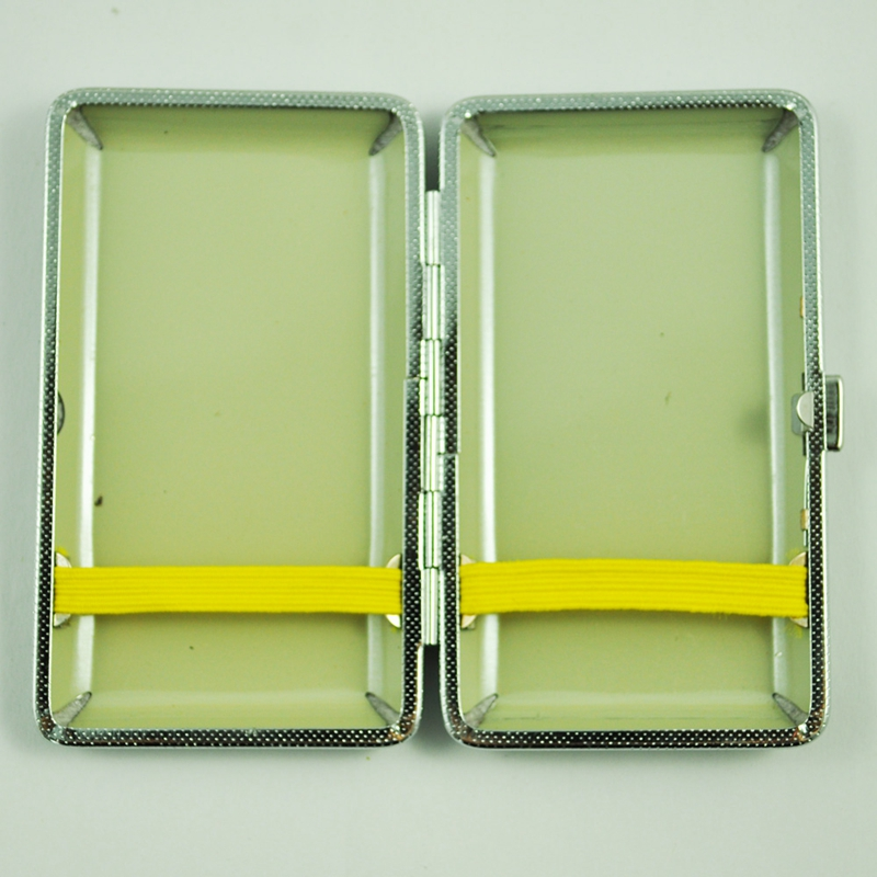 SODIAL-R-Metal-Frame-Black-Faux-Leather-Cigarette-Storage-Case-Box-Z9Z6 thumbnail 7