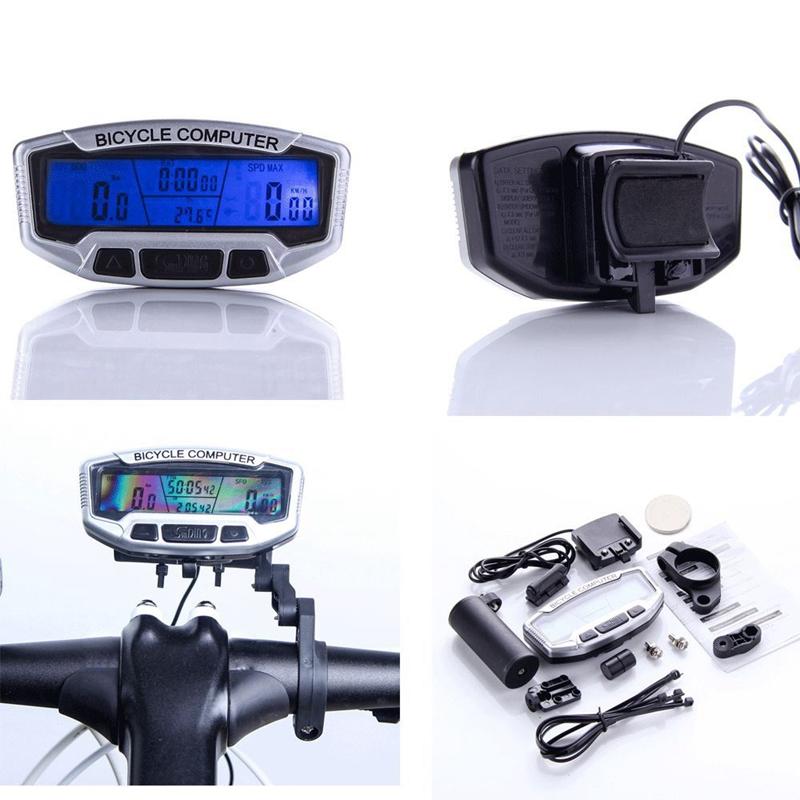10X( SODIAL(R) LCD Bicyclette Cyclisme Velo ordinateur kilometrique Compteur C5)