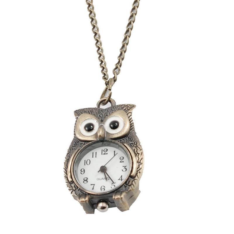 20c7afc42ca2 Color  Bronce Material principal  Metal Reloj collar con colgante de forma  buho ...