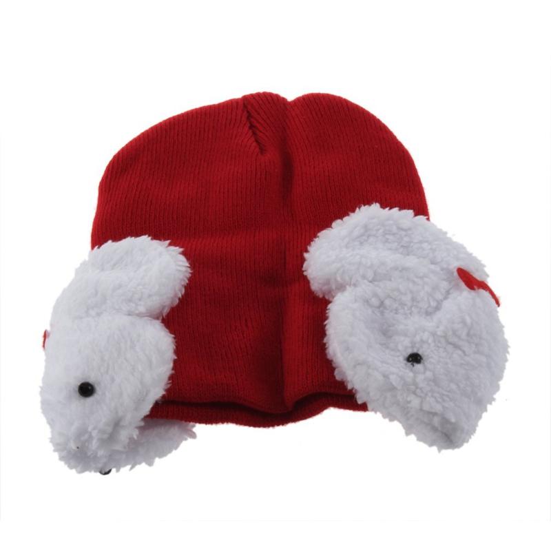 FL:Baby Kinder Winter Strick Hut Beanie Mütze Rundschal Ohrschützer Warm M7610