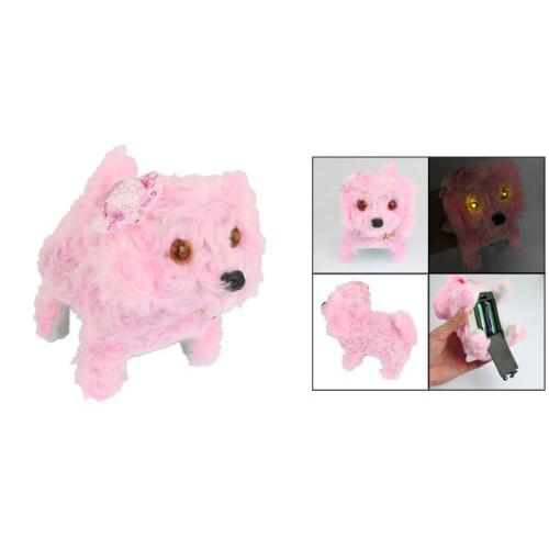 Kinder Flash Licht Augen Elektronisches Pluesch Elektronisches Augen Pudel Hund Spielzeug - Rosa Q9T9 b3b27f