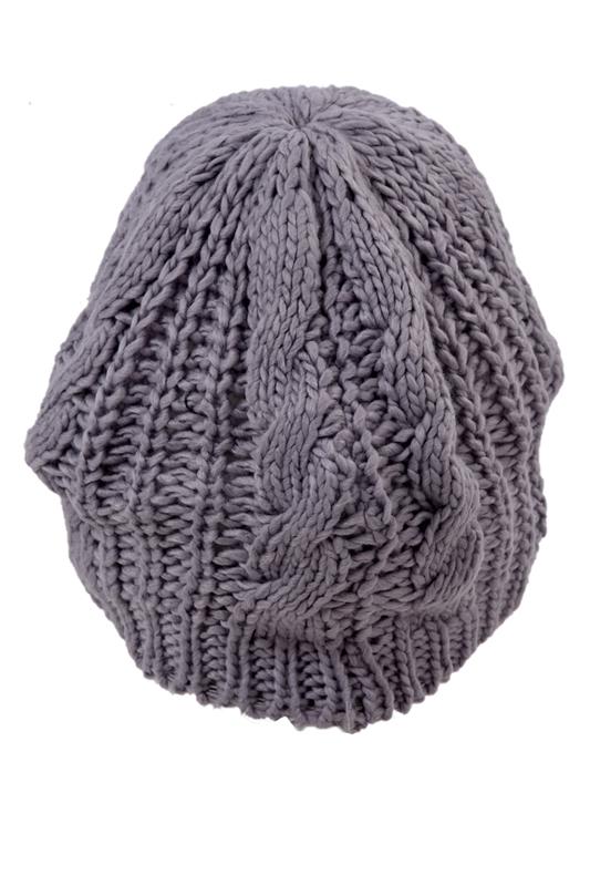 WAWO femmes Beret Baggy Beanie Crochet Tricot Hiver chaud en laine ... 497771b2eeb