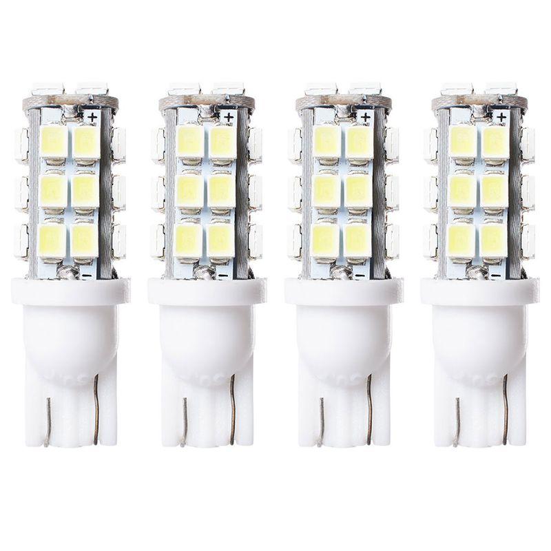 4x-Blanco-T10-W5W-194-168-Coche-invertido-Lado-Cuna-Ligero-Bulbo-28-SMD-LED-W2R7