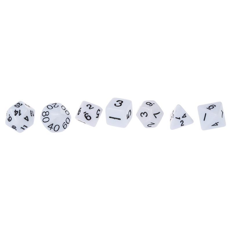 Set-7PCS-De-Dice-Die-D4-D20-a-Jeux-DUNGEONS-amp-DRAGONS-RPG-Donjons-et-Dragon-N2G1 miniature 3