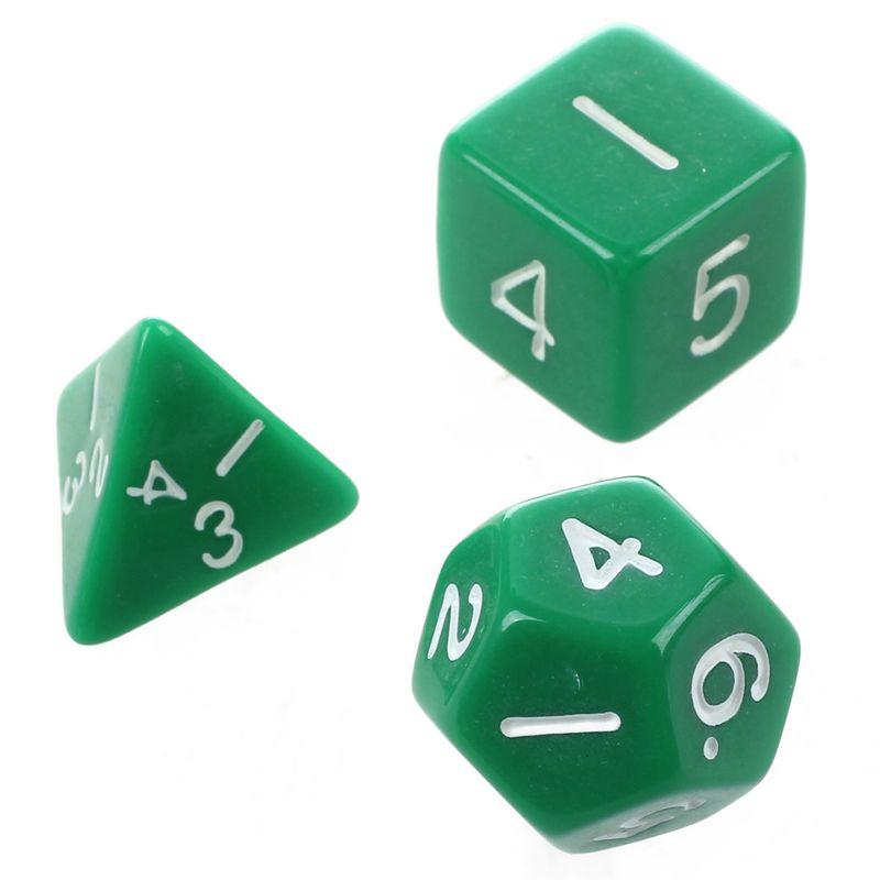 Set-7PCS-De-Dice-Die-D4-D20-a-Jeux-DUNGEONS-amp-DRAGONS-RPG-Donjons-et-Dragon-N2G1 miniature 29