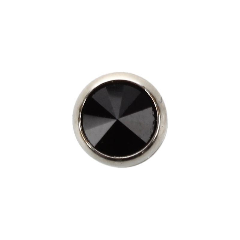 Pendientes-de-acero-inoxidable-con-rhinestone-para-hombre-negro-Arete-redondo-L1