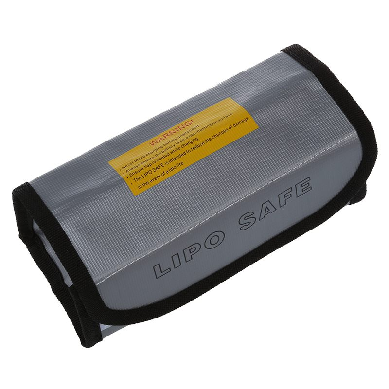 18-5-7-5-6cm-Silver-High-Quality-Glass-Fiber-RC-LiPo-Battery-Safety-Bag-Safe