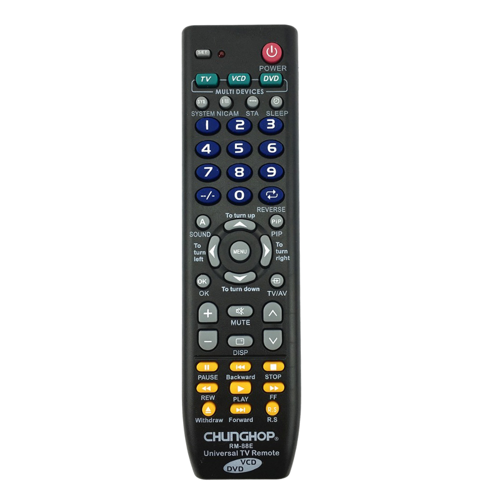 universal remote control 1pcs rm 88e tv vcd dvd 3 in 1 use for lg aiwa 3d t1j7 ebay. Black Bedroom Furniture Sets. Home Design Ideas
