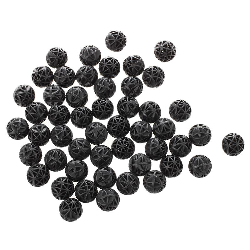 50-Pcs-18mm-Diameter-Black-Bio-Balls-for-Aquarium-Pond-Filter-R6Z6