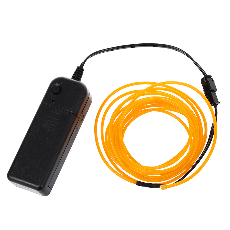 9ft Yellow Neon Glow Electroluminescent Wire (El Wire) E5S4 ...