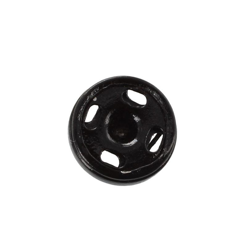 50-Piezas-de-Botones-de-Costura-para-Ropa-10mm-Negro-R3V7