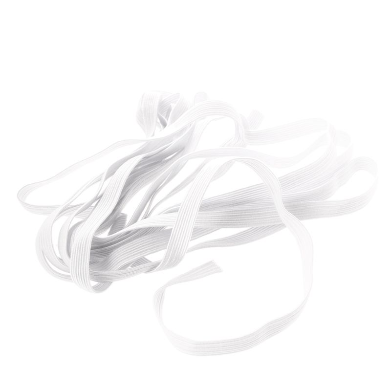 Banda-Elastica-Trenza-da-9-8F-pies-7mm-Ancho-Blanco-Muneca-Ropa-de-Polieste-T6T9 miniatura 3