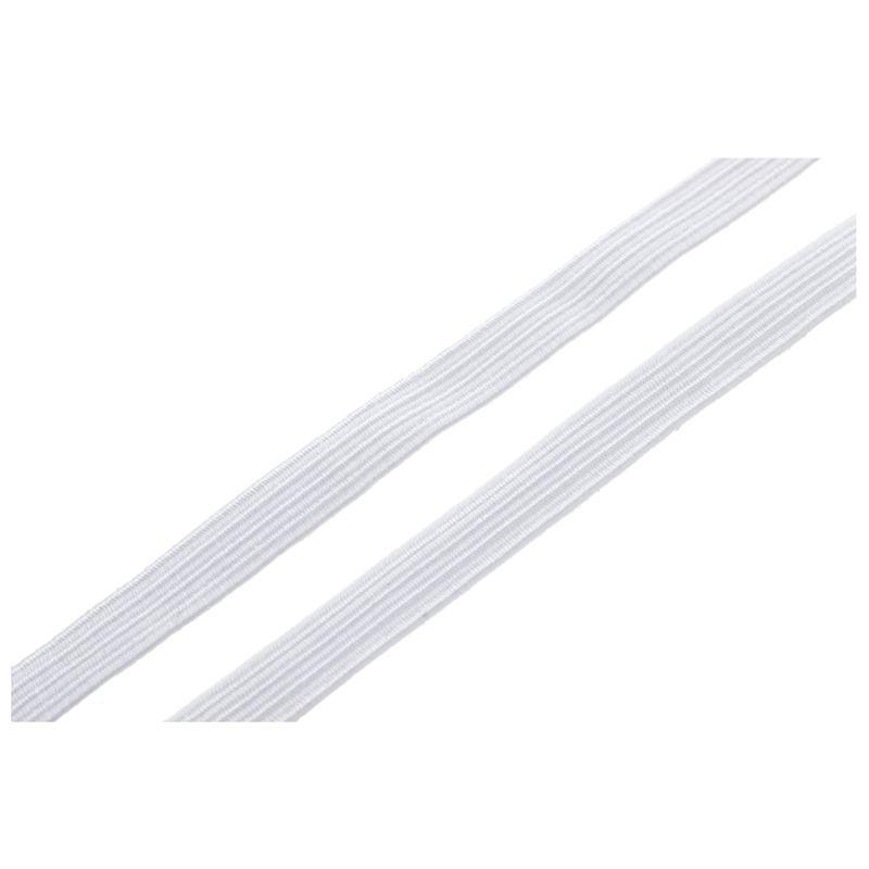 Banda-Elastica-Trenza-da-9-8F-pies-7mm-Ancho-Blanco-Muneca-Ropa-de-Polieste-T6T9 miniatura 4