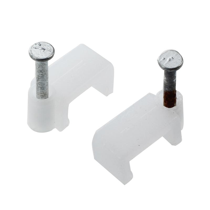 Kabel An Wand Befestigen 65 stueck kunststoff 9mm wandeinsatz breite kreis kabel draht nagel