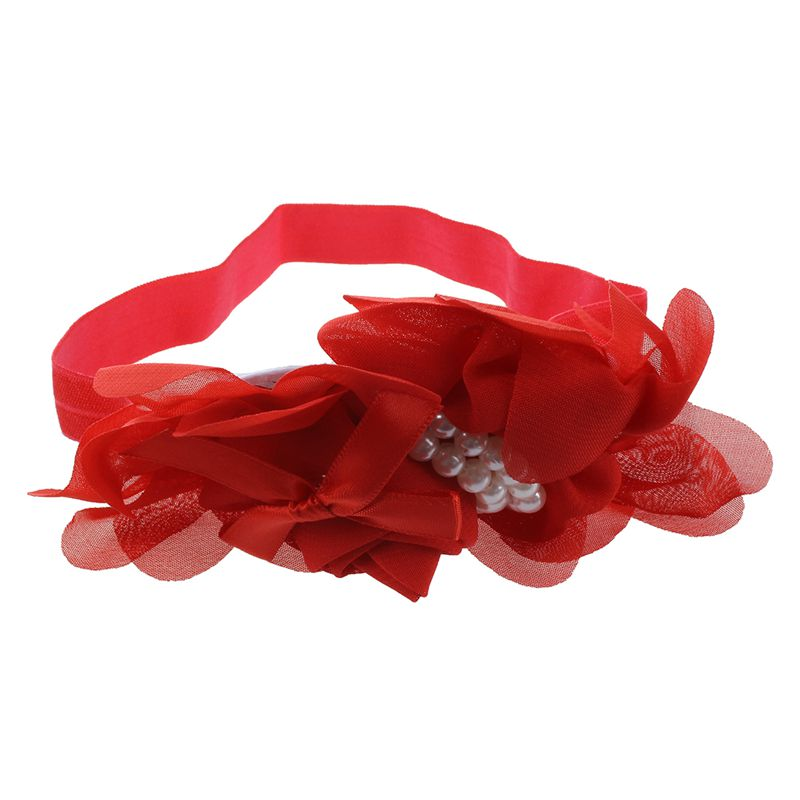 Banda-de-cabeza-de-bebe-chica-de-algodon-precioso-Perla-rojo-I8O4