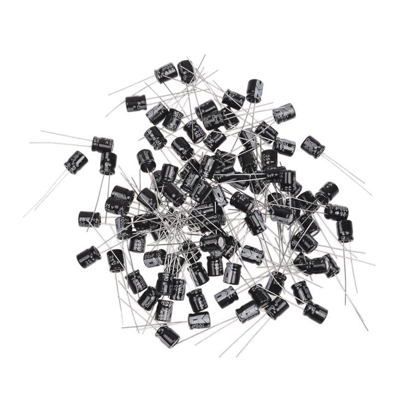 10 Pcs 100V 100uF 105C Radial Lead Electrolytic Capacitor 10mm x 17mm