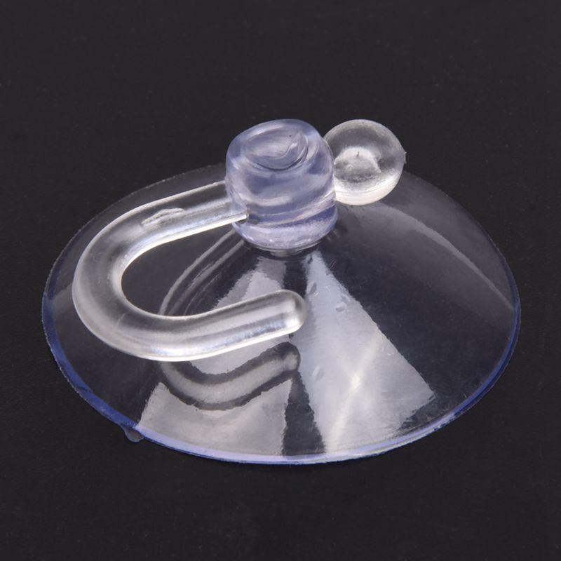 SODIAL-R-PVC-Crochet-Plastique-ventouse-40mm-12-Pcs-Bleu-clair-H5J9