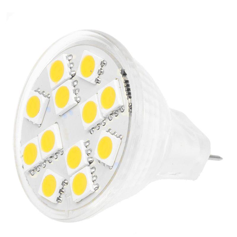 2X(2W MR11 GU4 120-144LM LED Birne 12 5050 SMD Warme weisse Lampe ...