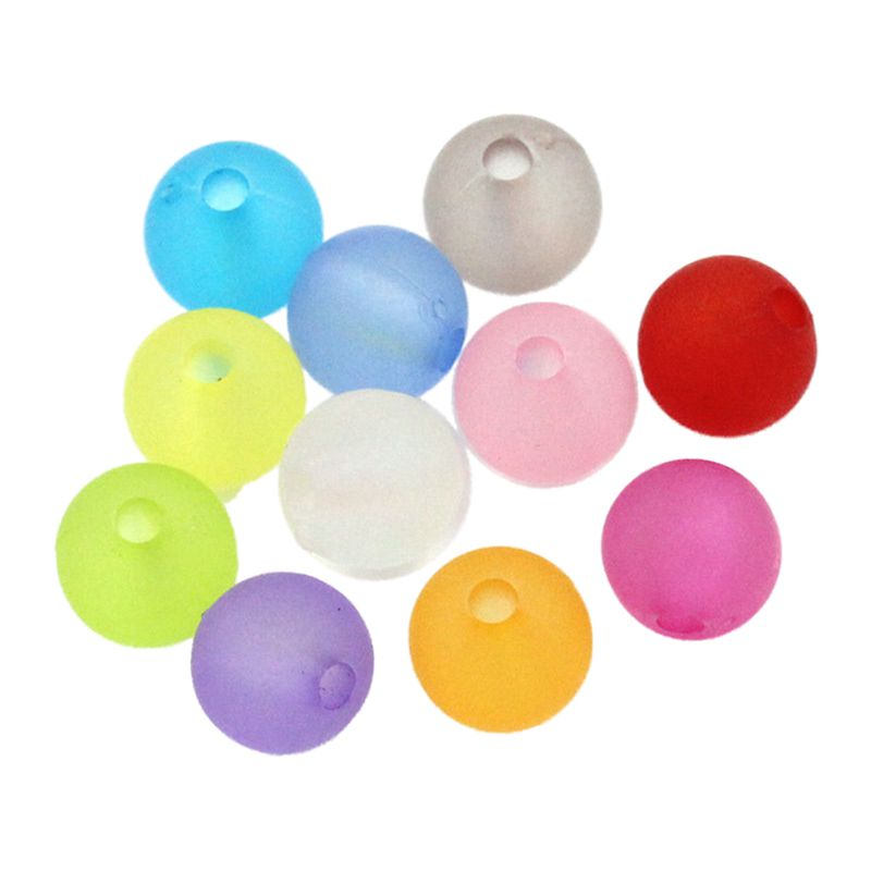 """Dia 1000pcs plastic Spacer Beads Frosted Round Ball Random Color 6mm 2//8/"""" X6M3"""