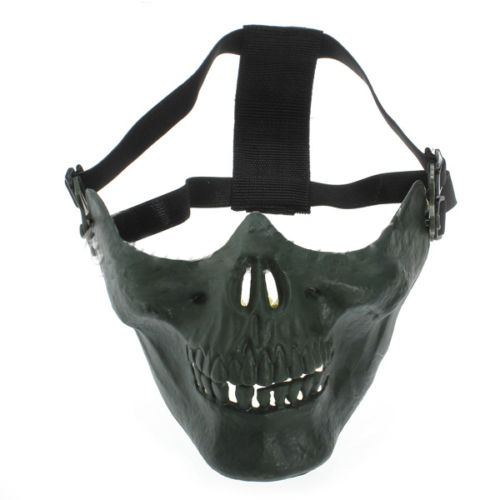 5X-Milit-Skull-Mask-Half-Protection-Facial-Masks-Color-gree-K8W8