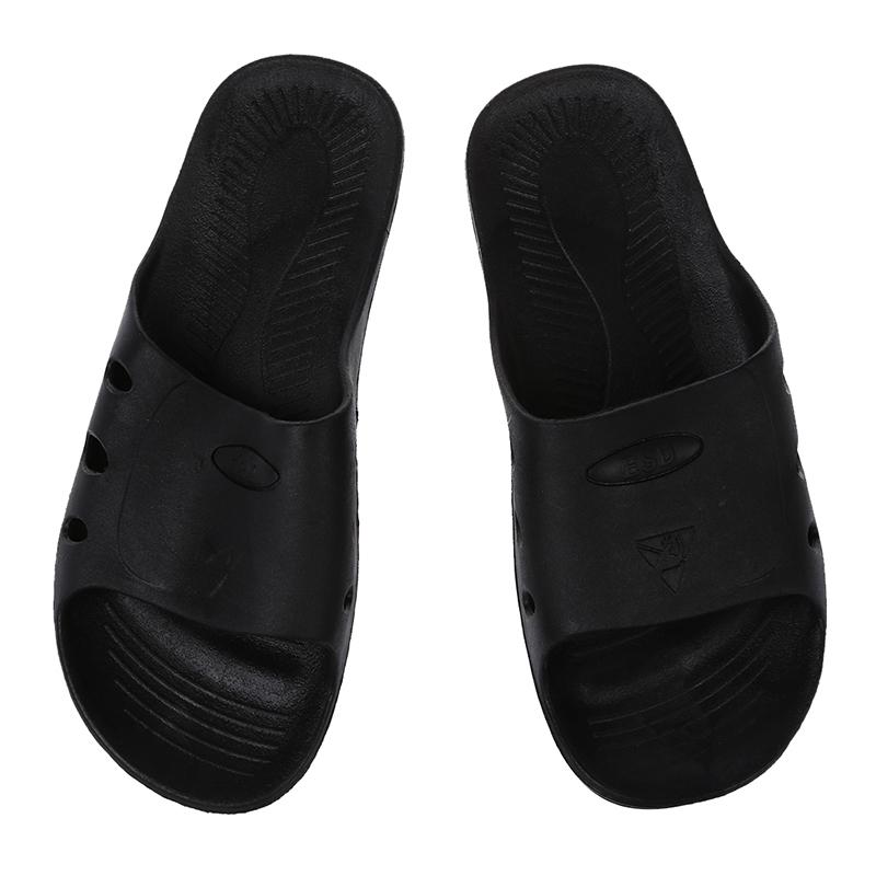 Man Pair Black Rubber Clean Room Anti Static Spers ESD Sandal US 8.5 G6Q8