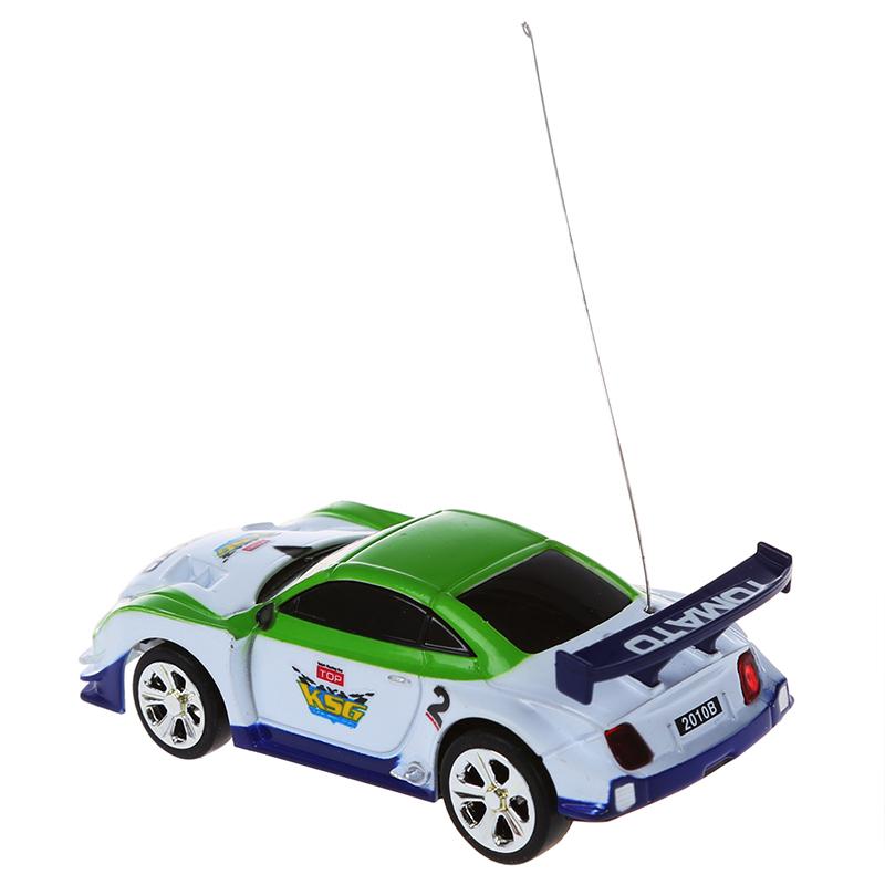 Ferngesteuertes 5X Mini Auto Cola Dose RC Fernbedienung Spielzeug Auto RC Fernradio - Weiss & QP
