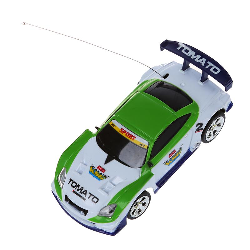 Mini Auto Cola Dose RC Fernbedienung Spielzeug Auto RC Fernradio - Weiss & QP Elektrisches Spielzeug 5X