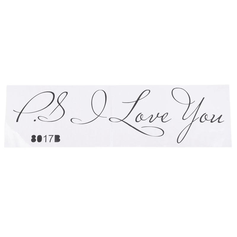 3xhot Sale Letter Patterns Ps I Love You Pvc Wall Quotes Stickers