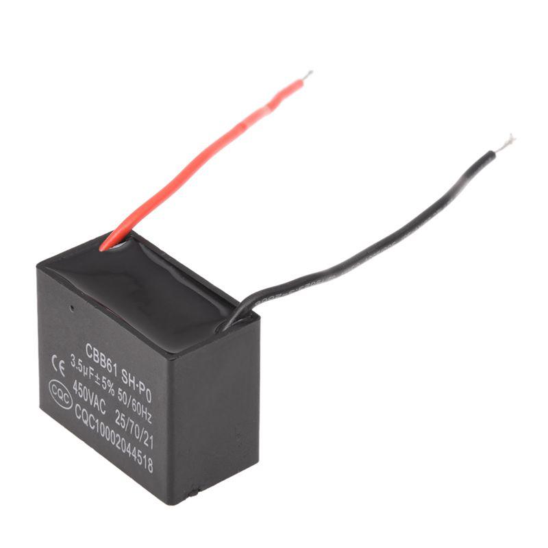 SODIAL (R) 3.5uf 450V AC 50/60Hz 2-Draht Ventilator Kondensator ...