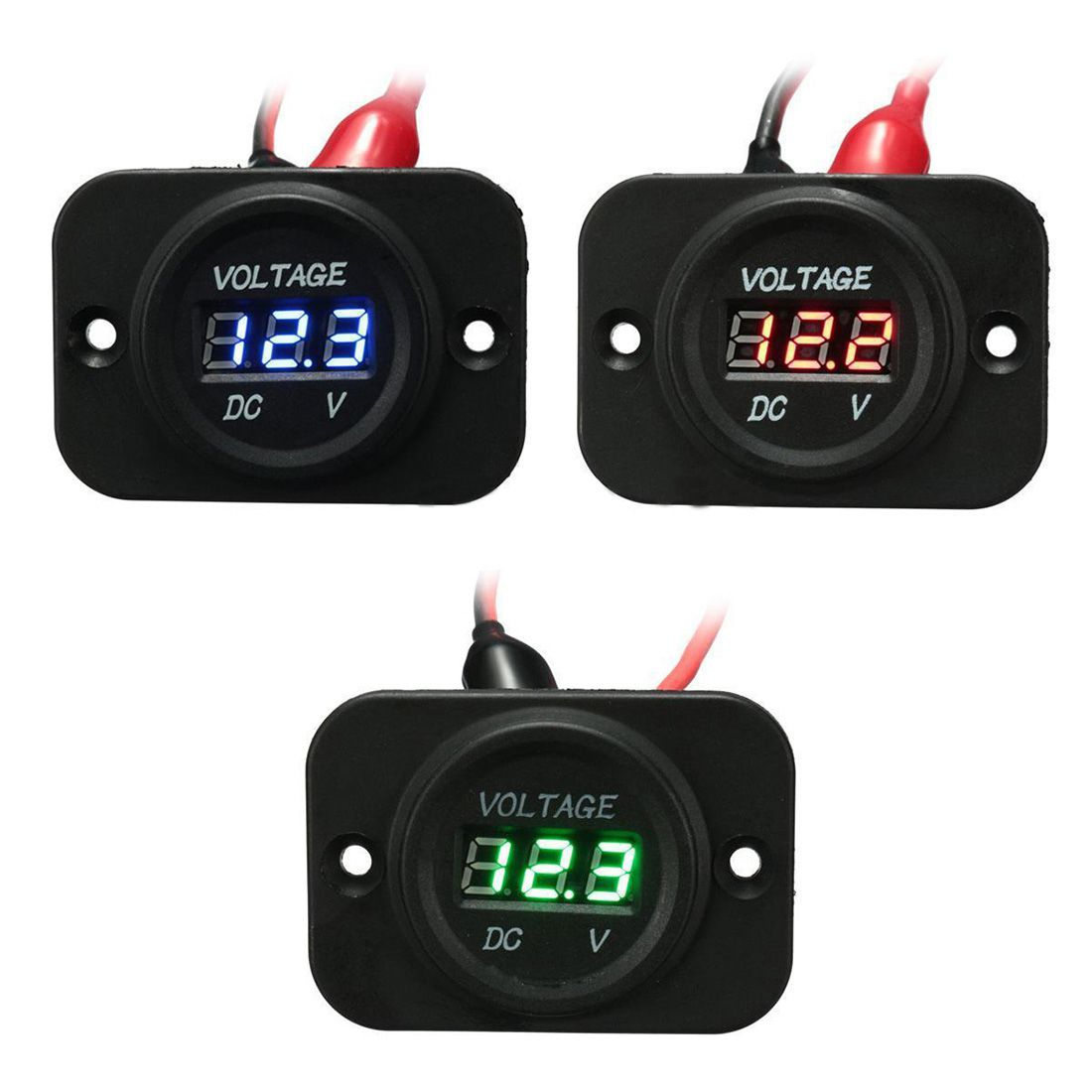 12v 24v Waterproof Car Motorcycle Led Digital Display Voltmeter Battery Volt Meter Small Charging Circuit Monitor With Compact Portable Design New Dc The Has Easy To Read And Connect Your 12 24
