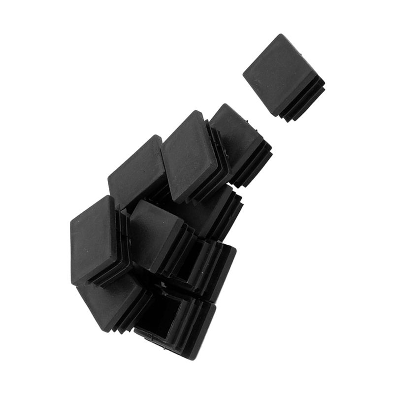 5 Pieces Rectangle Stoppers Tube Blind End Plates 60mm X 30mm Black Furniture Parts Furniture
