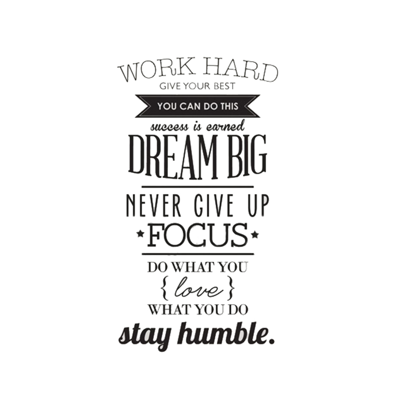 B7q2 Work Hard Dream Big Quote Wall Sticker Office Inspirational