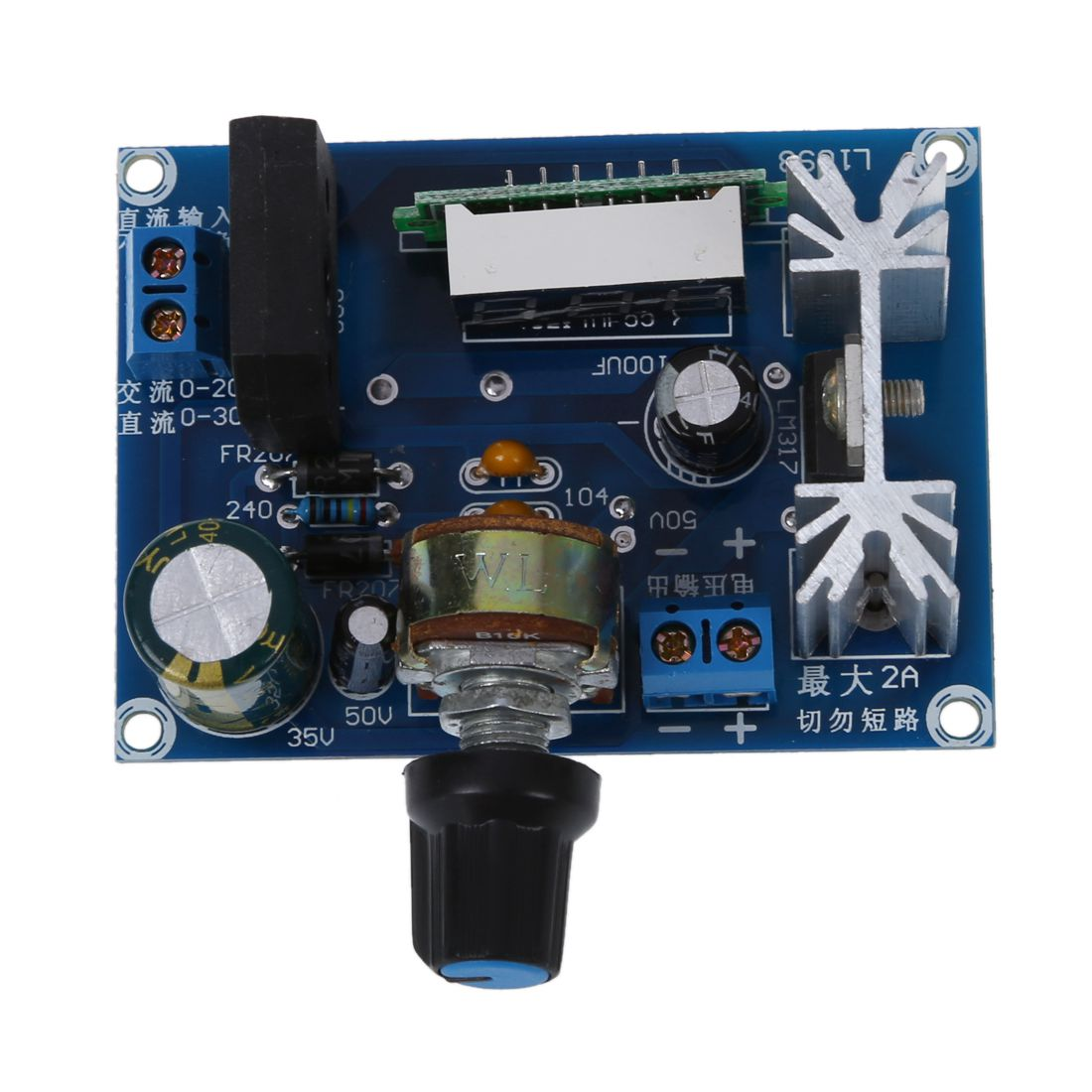 Lm317 Adjustable Voltage Regulator Step Down Power Supply Module Led Understanding This Driver Circuit Electrical Engineering Meter O6q4