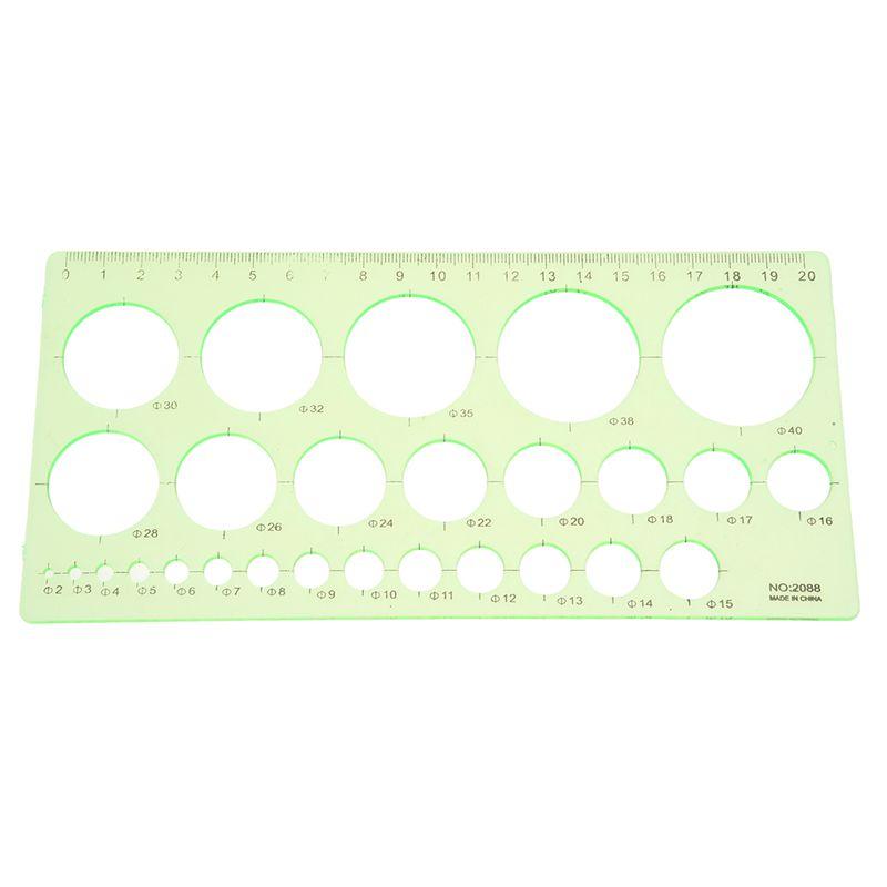 Verde-Regla-de-plantilla-circulo-dibujo-forma-rectangula-estudiantes-plastica4B3
