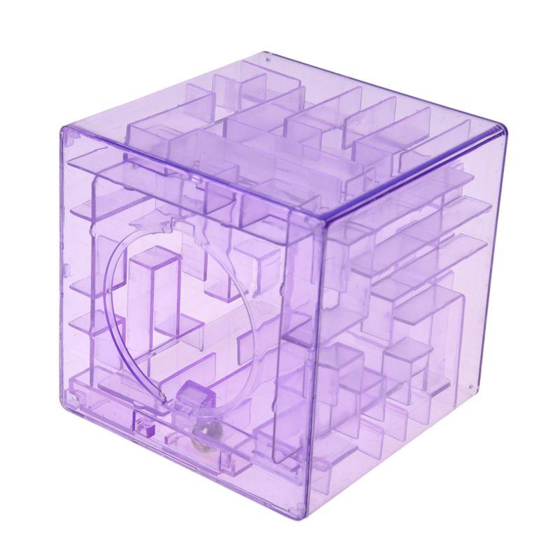 Banco-del-laberinto-de-dinero-cubico-de-plastico-Caja-de-coleccion-de-ahorr-X5D3 miniatura 7