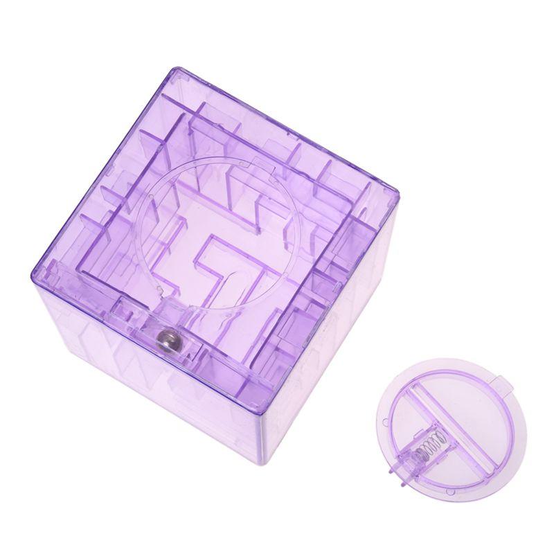 Banco-del-laberinto-de-dinero-cubico-de-plastico-Caja-de-coleccion-de-ahorr-X5D3 miniatura 8