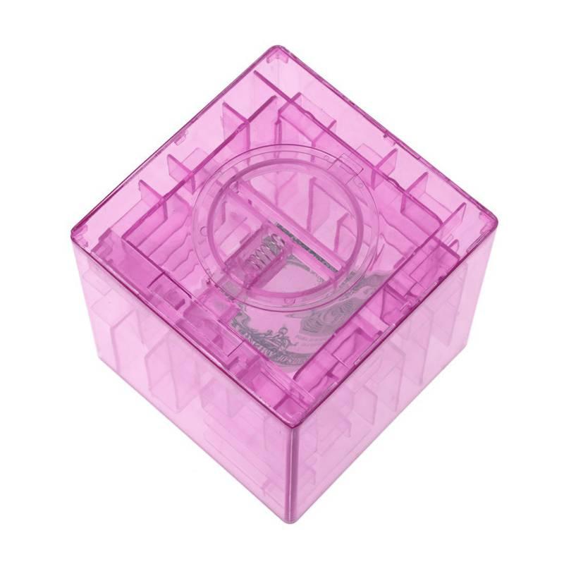 Banco-del-laberinto-de-dinero-cubico-de-plastico-Caja-de-coleccion-de-ahorr-R2W3 miniatura 8