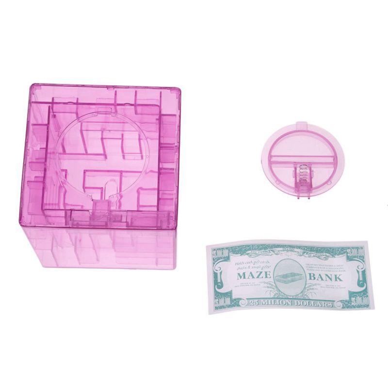 Banco-del-laberinto-de-dinero-cubico-de-plastico-Caja-de-coleccion-de-ahorr-R2W3 miniatura 9