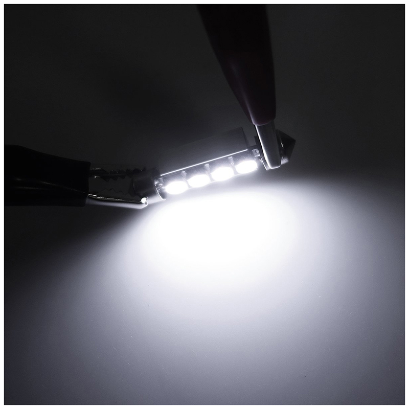 5x 6 x bombilla luz interior de coche 5050 smd led 42mm coche dome can bus t6g2 ebay - Poner luz interior coche ...