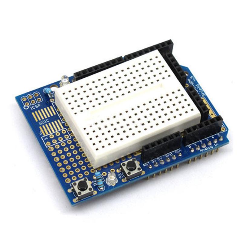 1X(1 x Atmega328P Arduino Prototyping Shield ProtoShield + Mini Breadboard, C5Q9