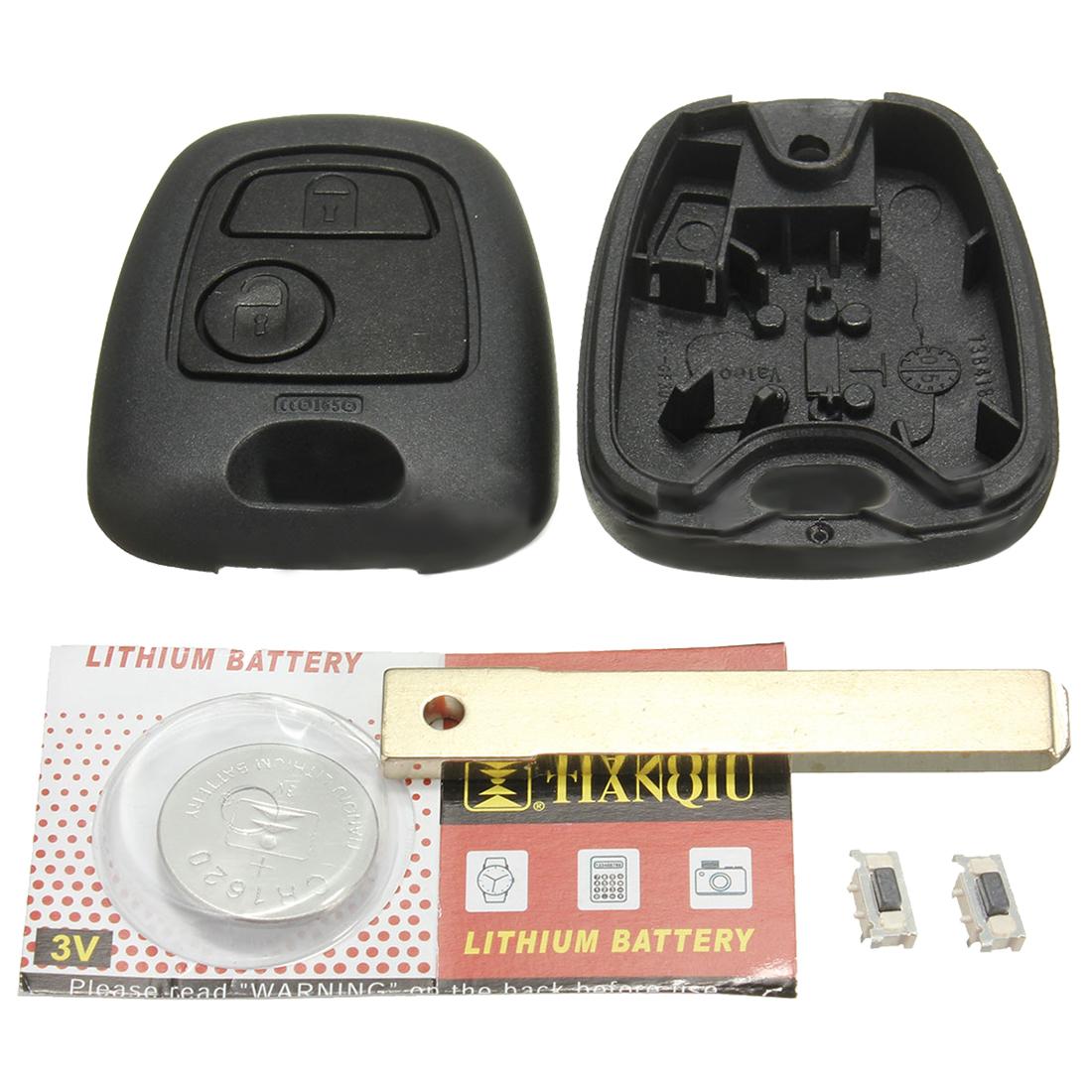 2 tasti cover scocca guscio chiave per telecomando toyota aygo batteria pul e3k0 ebay. Black Bedroom Furniture Sets. Home Design Ideas